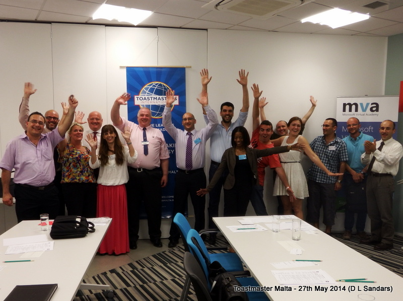 The participants at a fantastic night at Toastmasters Malta