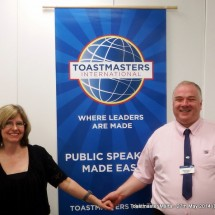 Stephanie and I at Toastmasters Malta