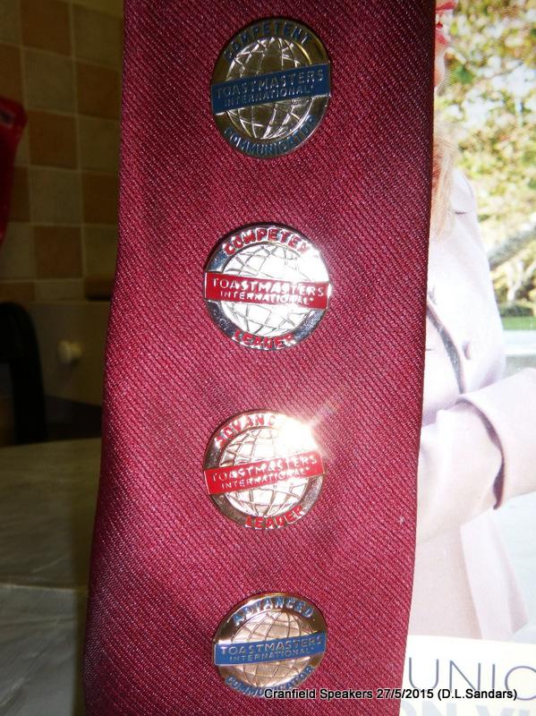 Pin Badges: Competent Communicator, Competent Leader, Advanced Leader Bronze, Advanced Communicator Bronze