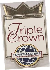 Triple Crown pin badge